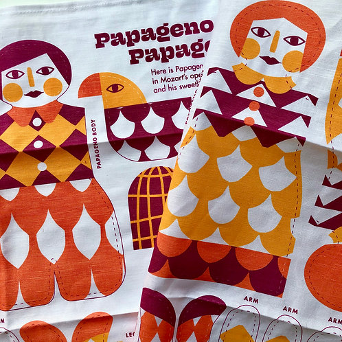 PAPAGENO + PAPAGENA  TEA TOWEL