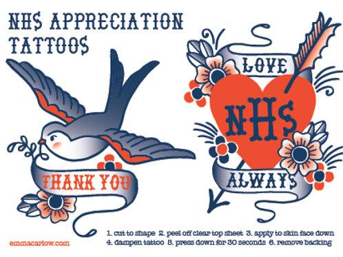 NHS Appreciation Tattoos