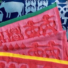coral cotton blanket