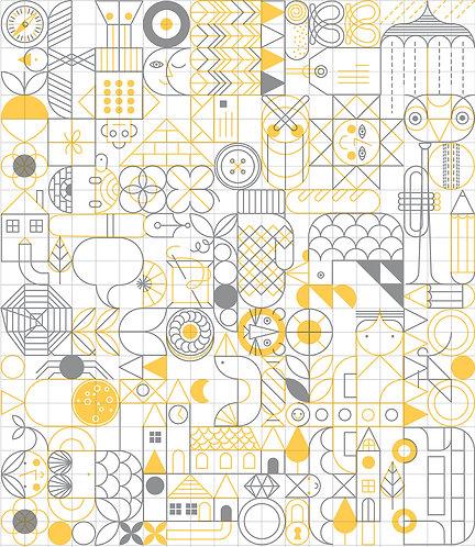 I - SPY yellow/grey A4 sample