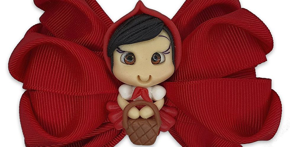 Laço coração Chapeuzinho Vermelho