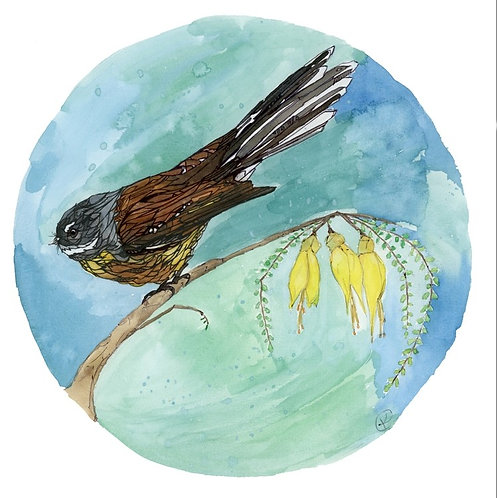 Piwakawaka / Fantail By Kellie Eathorne