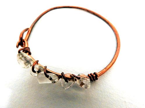 Quartz copper Bangle