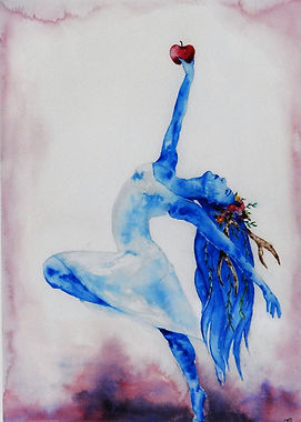 Dancing in His Glory (Watercolour) by Po