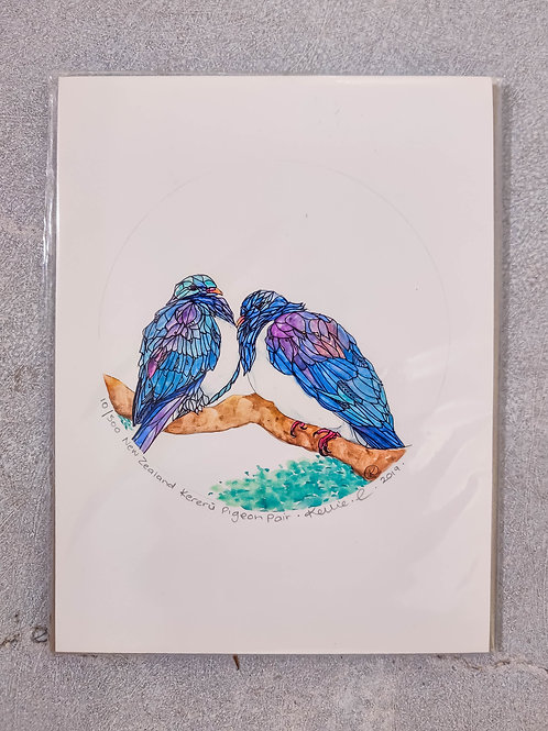 Kereru Pigeon Pair By Kellie Eathorne