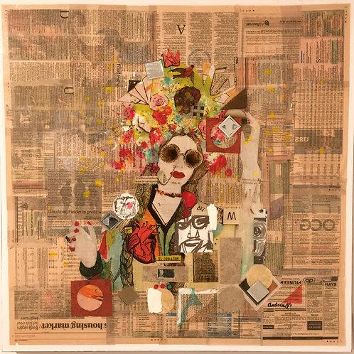 Flower Head Lady by Andrea Navarro