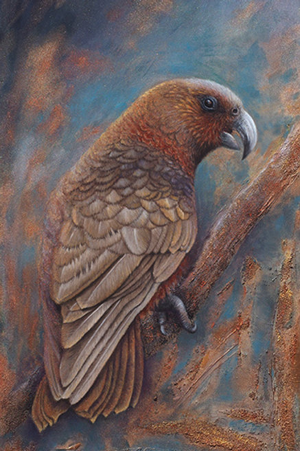 """Our Forest Treasure""  (New Zealand Native Forest Parrot) By Karen Raiken Neal"