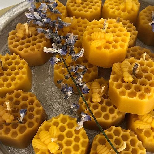 Cute honey bee candles