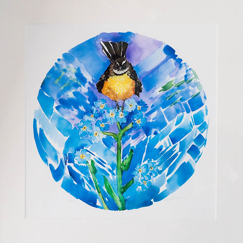 Forget-me-not Fantail by Kellie Eathorne
