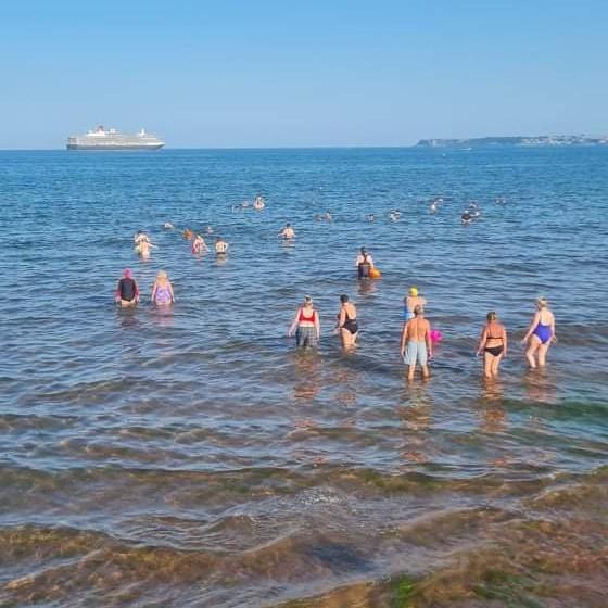 Tuesday morning dip at Preston