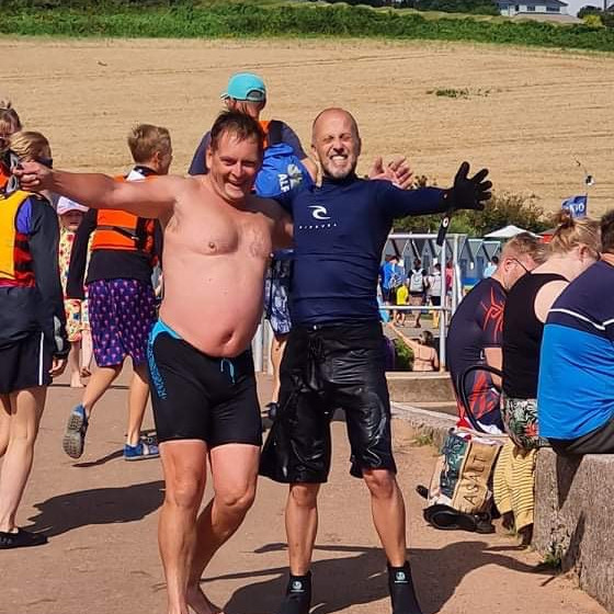 Broadsands Sunday dip    NEW TIME FOR THE SUMMER