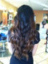 ombre, balayage, caramel on black hair