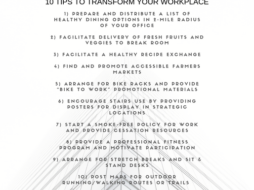 10 Tips to Transform Your Workplace