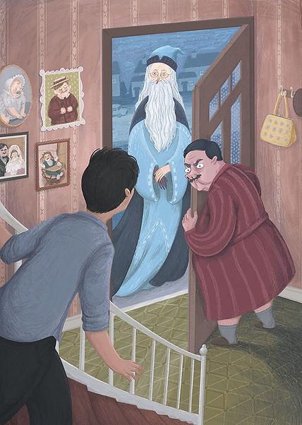 Harry potter and the order of the dumbledore hermione ron fanart illustration hogwarts magic phoenix