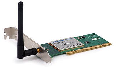 TP Link 54M Wireless PCI Adapter, 2.4GHz, 802.11g/b, detachable antenna