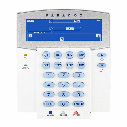 Klaviatuur Paradox K10V LED, 10 tsooni