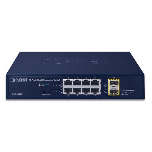 Planet GSD-1020S 8 pordiline, , hallatav ethernet switch, gigabit
