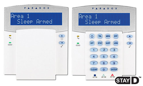 Klaviatuur  Paradox K32LCD+, 32 tsooni, LED