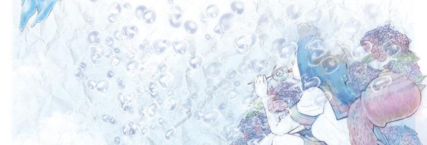 水の泡,イラスト,女子高生