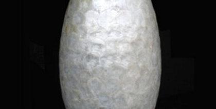 インテリアオーナメント/室内置物 【卵型】 直径32cm×高さ46cm 陶器製 『貝殻シェルエッグ』