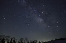 栂池高原の夜空