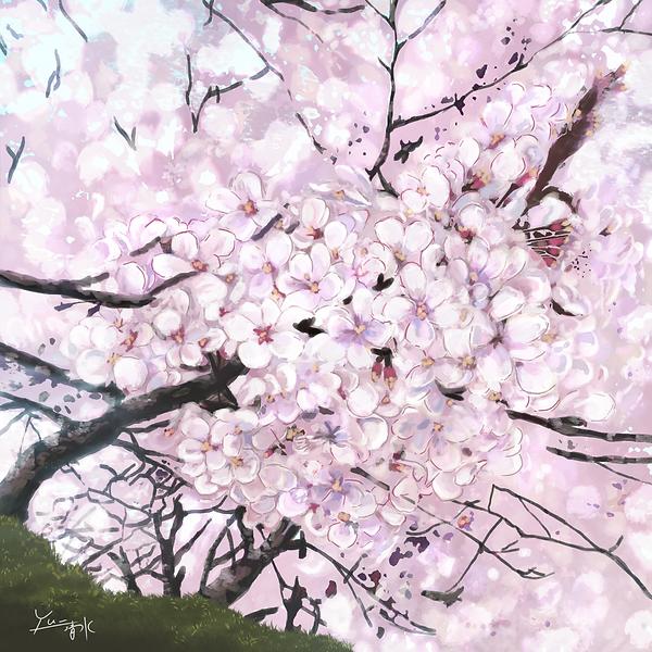 タイトル【最期の春 満開】  技法/画材 デジタル Photoshop