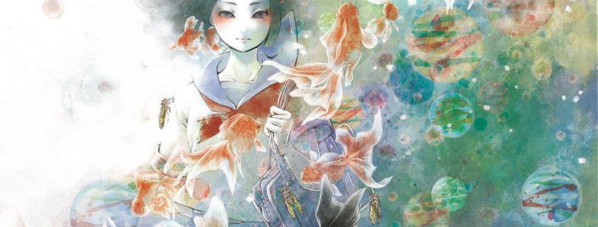 金魚,蝉時雨,イラスト
