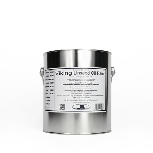 Viking Linseed Oil Black Paint: 1 Gallon