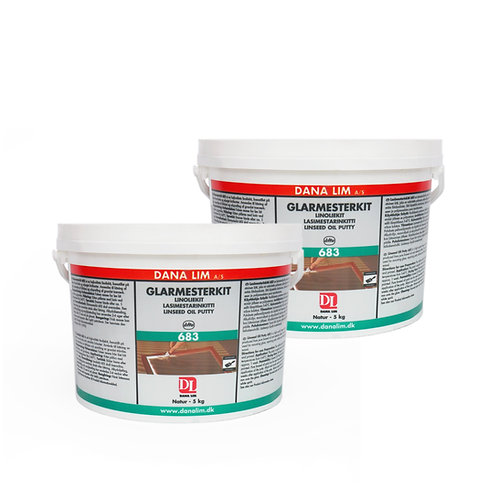 2 Pack: DANA Linseed Oil Glazing Putty