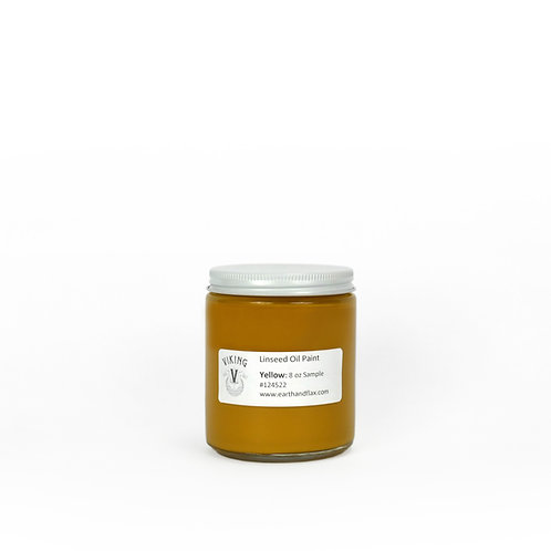Yellow Viking Linseed Oil Paint: 8oz Sample