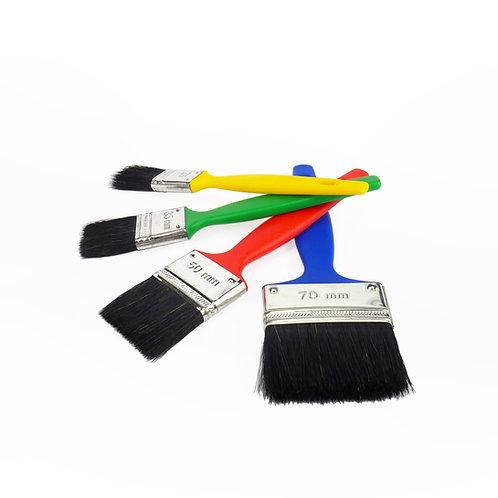 Natural Bristle Paint Brush 4 Pack