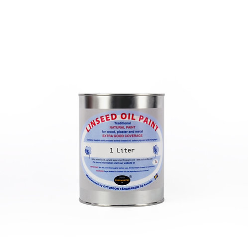 Yellow Ochre Ottosson Linseed Oil Paint: 1 Liter