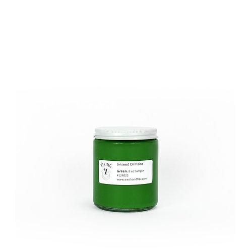 Green Viking Linseed Oil Paint: 8oz Sample