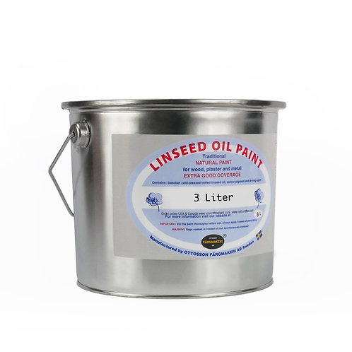 Hastings Grey Ottosson Linseed Oil Paint: 3 Liter