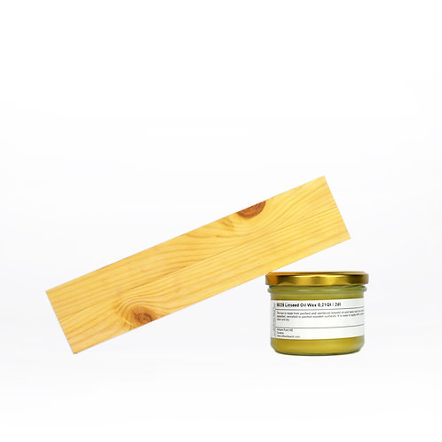Allback Linseed Oil Natural Wax: 7 oz Sample