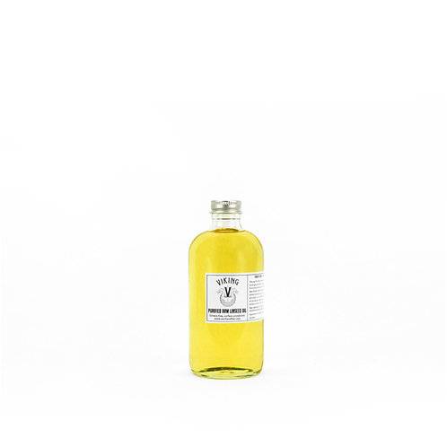 Viking Purified Raw Linseed Oil: 8 oz Glass Bottle