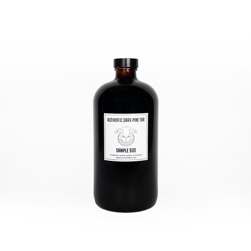 Dark Pine Tar Sample: 32 oz Glass Bottle