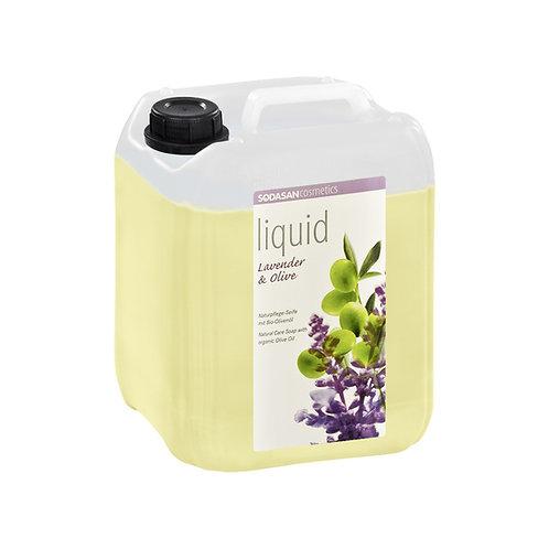 Lavender-Olive Liquid Hand Soap: Bulk Refill 5 Liter