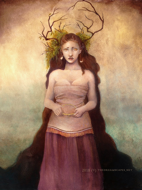 The Queen Who Wore Branches . original painting