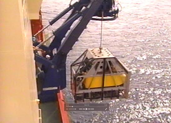 ROV used to photograph U-166 wreckage