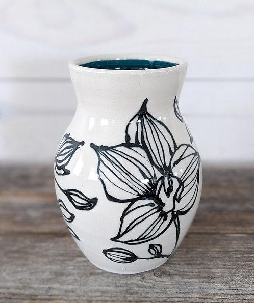 Viridian Orchid Vase