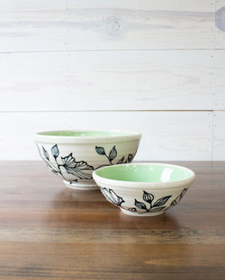 Botanical Bowls Set of 2 | Soft Gree