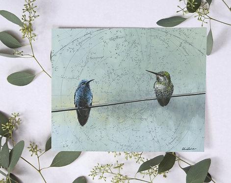 Signed Giclee Hummingbird Print