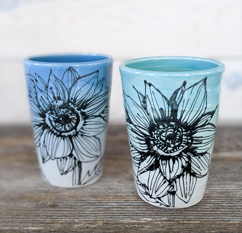 Ombre Sunflower Pint Glasses (set of 2)