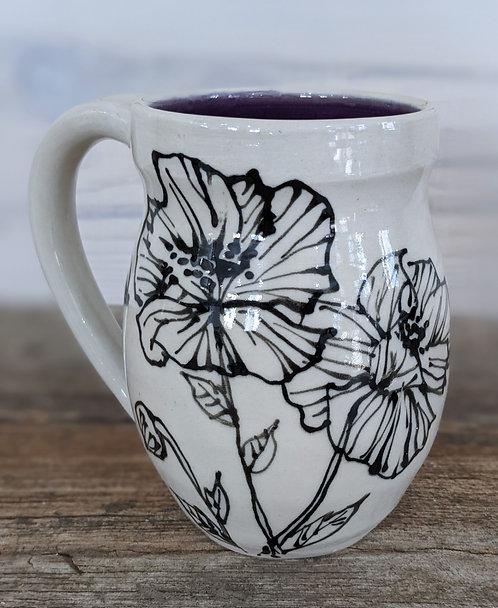 Amethyst Peony Mug
