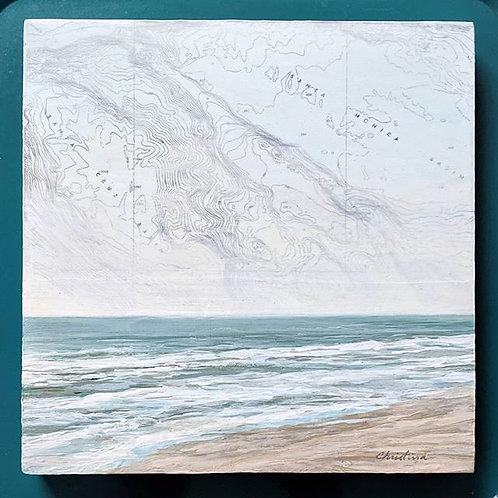 Santa Monica Basin | 8'' x 8'' Painting on Panel