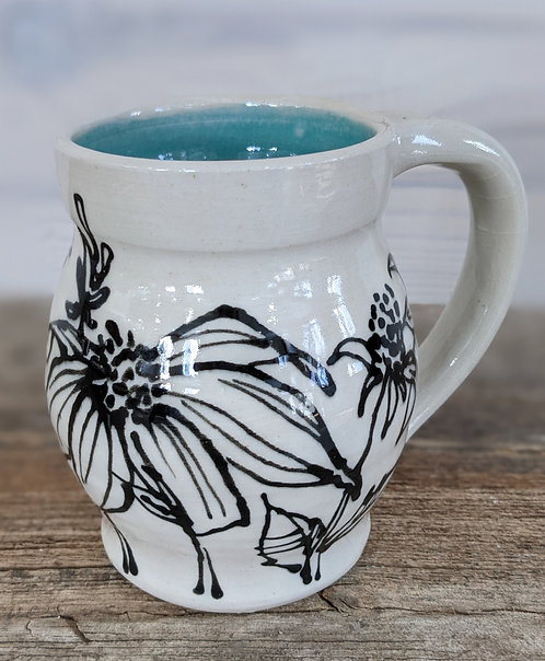 Jade Coneflower Mug