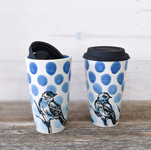 Cobalt Bluebird Tumblers (Set of 2)