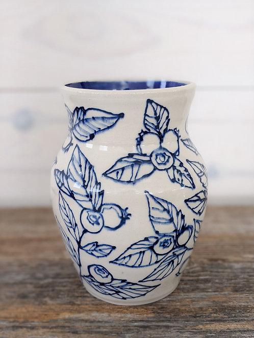 Ultramarine Blueberry Vase #1