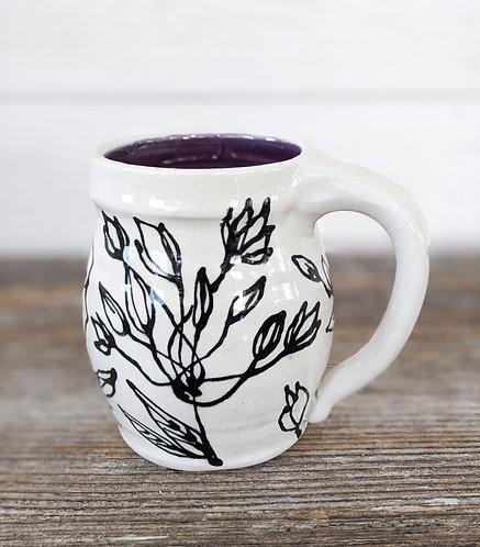 Amethyst Spring Flowers Mug
